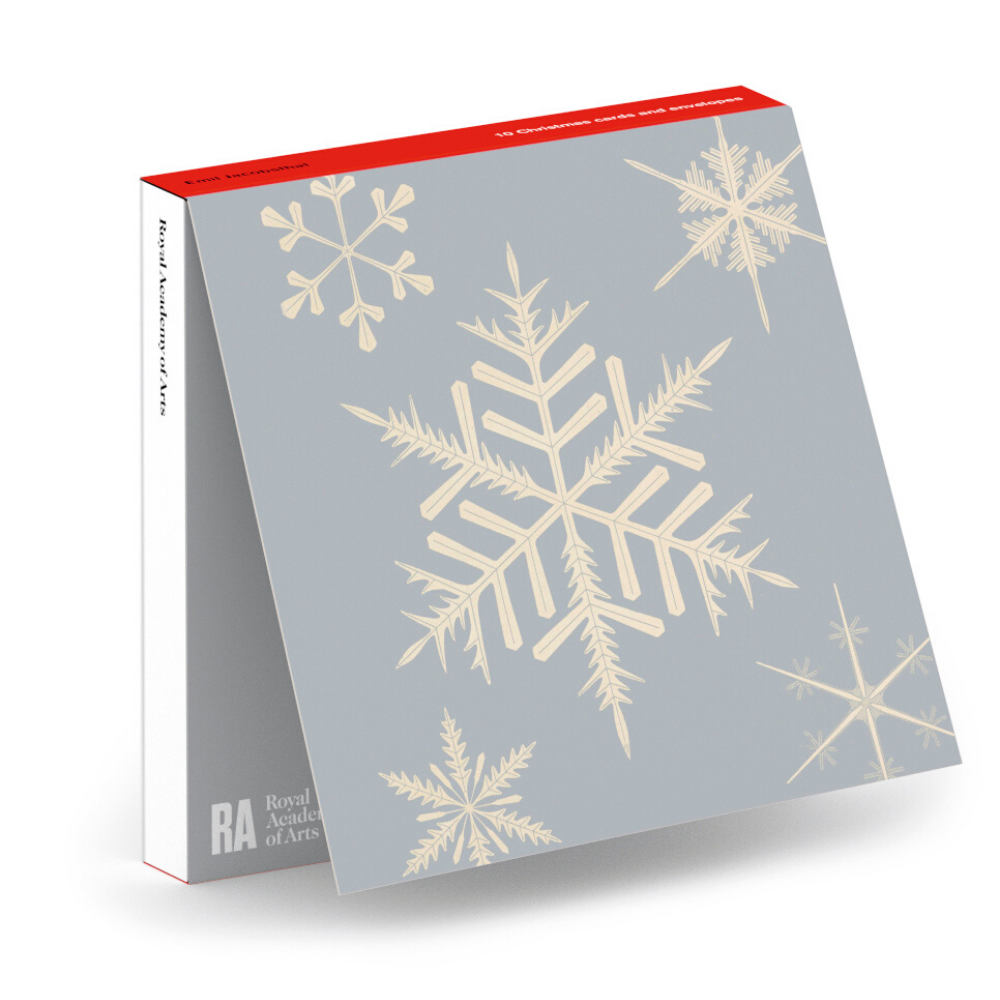 Snowflakes (Schneeflocken) Square Christmas Card 10 Pack