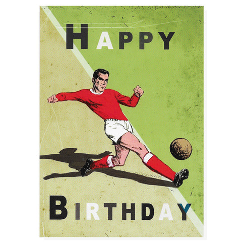 Red Footballer Happy Birthday