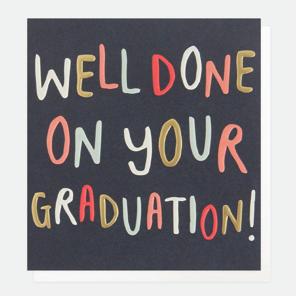 Well done on your graduation!