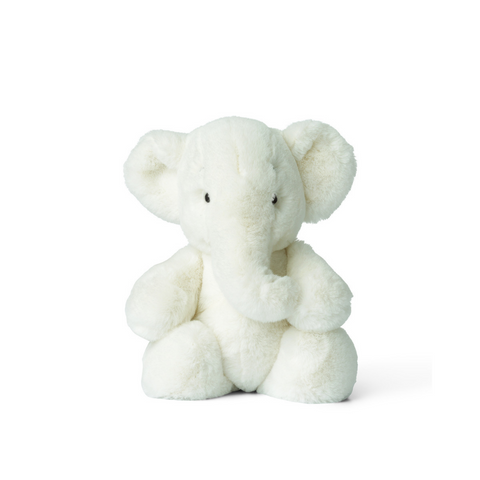 Ebu the Elephant Large Soft Toy White
