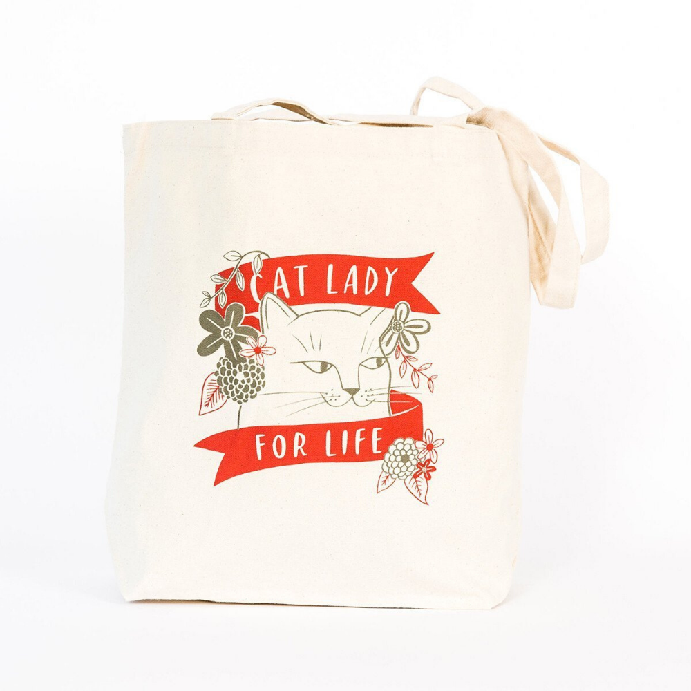 Cat Lady For Life Tote Bag