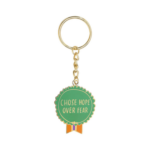 Everyday Bravery 'Chose Hope Over Fear' Keyring