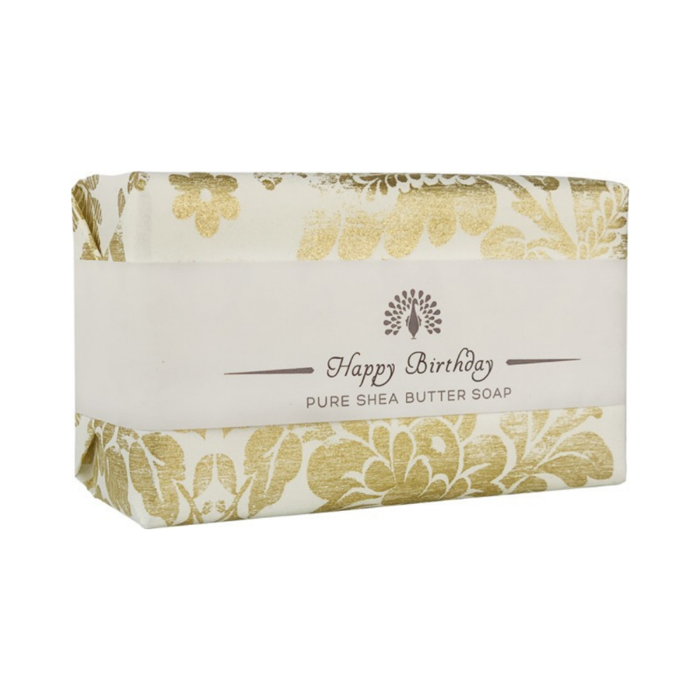Lavender 'Happy Birthday' Vintage Wrapped Soap