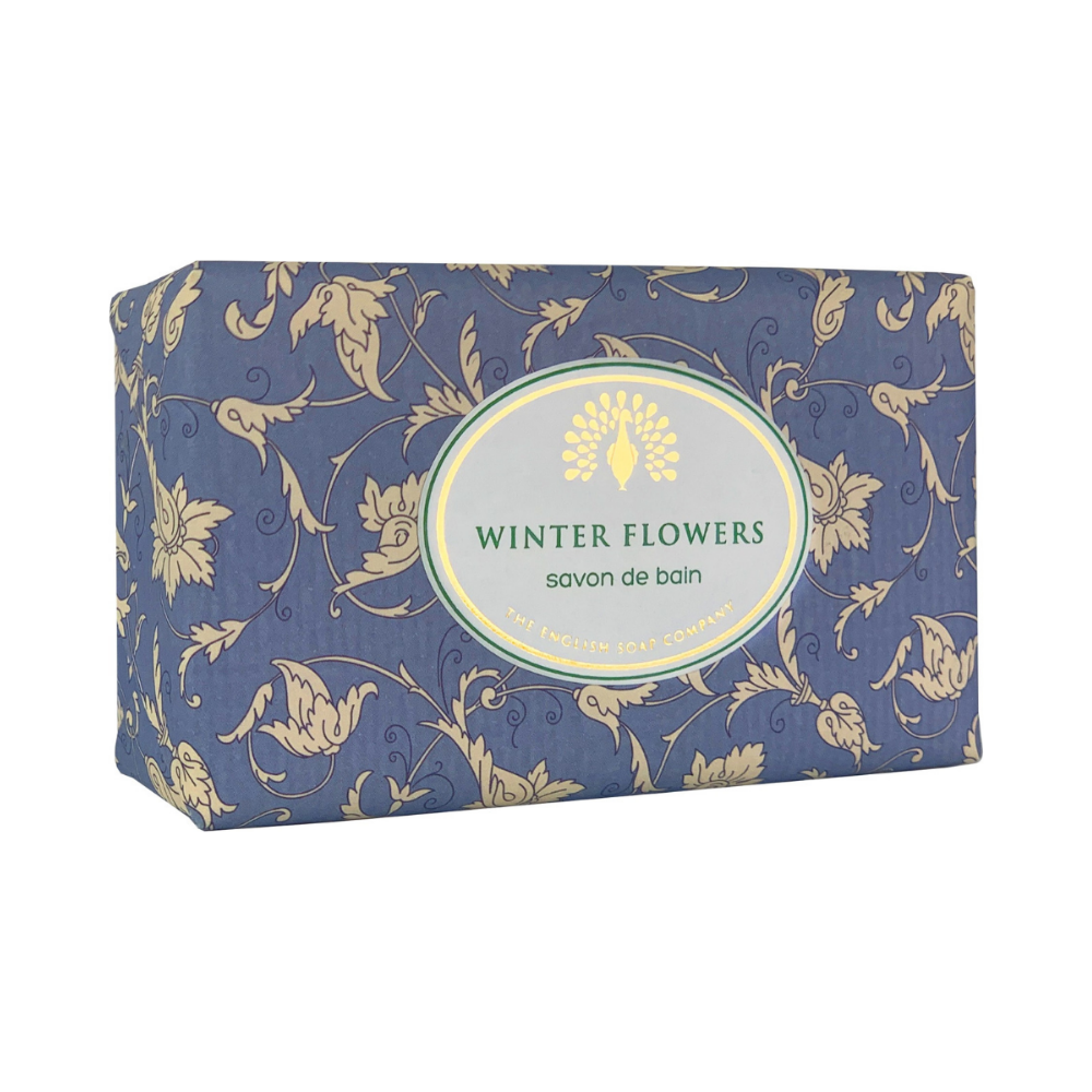 Winter Flowers Vintage Wrapped Soap