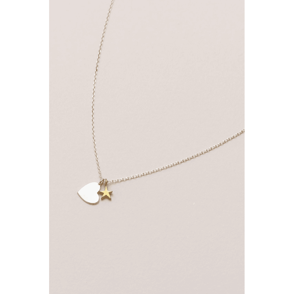 Estella Bartlett Double Charm Heart and Star Necklace