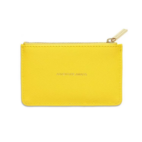 Estella Bartlett 'Adventure Awaits' Yellow Card Purse