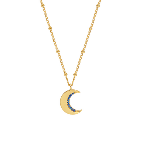 Estella Bartlett CZ Moon Gold Plated Necklace