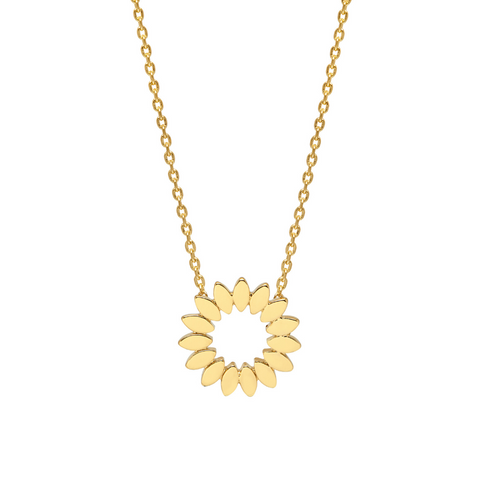 Estella Bartlett Modern Flower Gold Plated Necklace