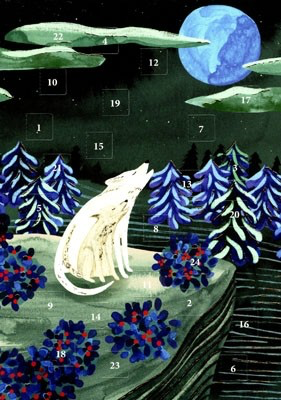 Roger la Borde 'By the Light of the Moon' Advent Calendar