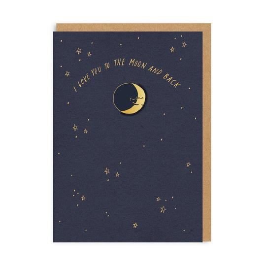 Moon And Back (Card With Enamel Pin)