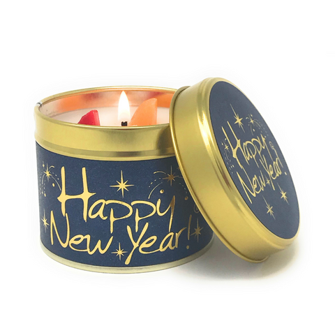 Lily-Flame Happy New Year Scented Tin Candle
