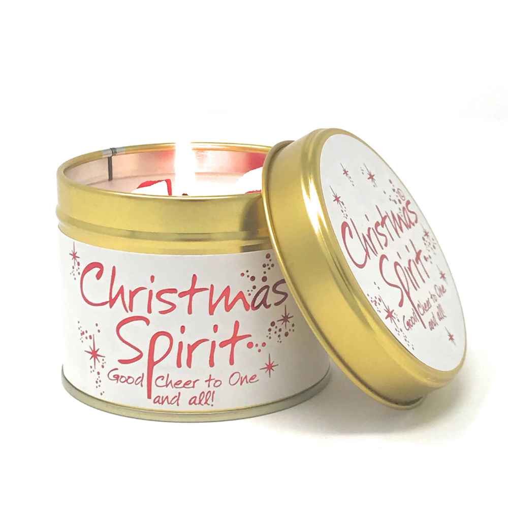 Lily-Flame Christmas Spirit Scented Tin Candle