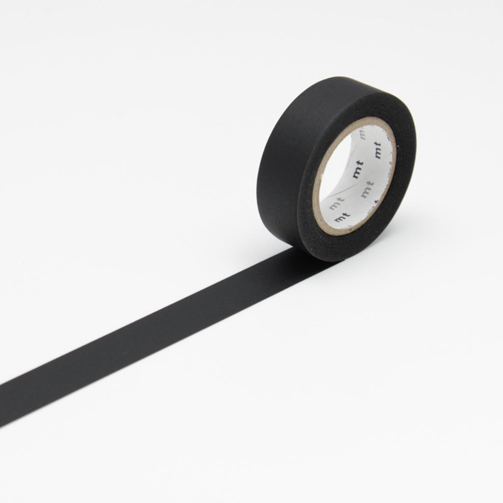 Matte Black Washi Masking Tape