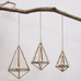 Mokomo Antique Brass Hanging Lantern - Small
