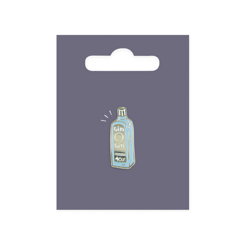 Gin Enamel Pin Badge