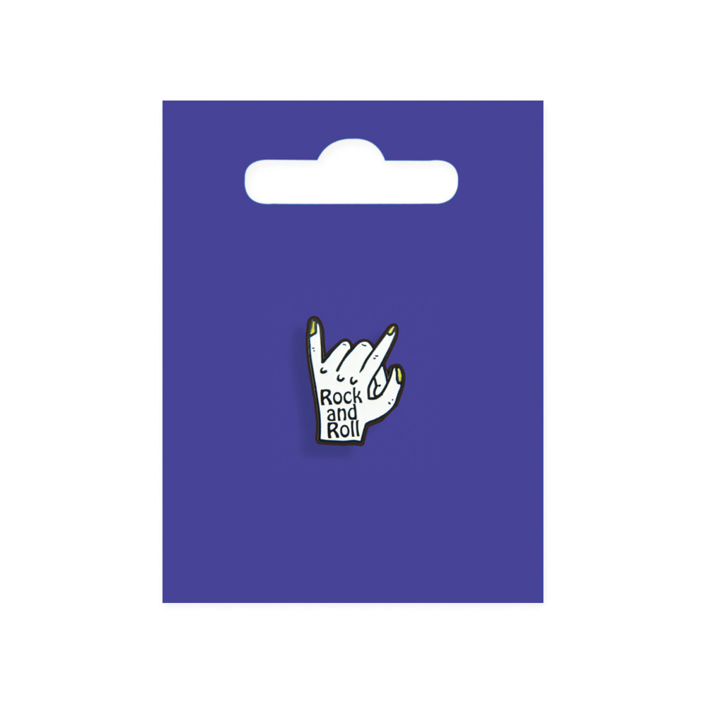 Rock and Roll Enamel Pin Badge