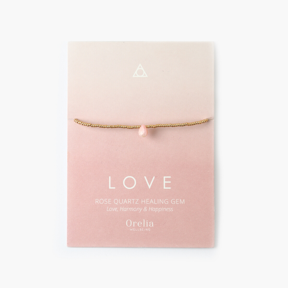 Rose Quartz 'Love' Healing Gem Bracelet