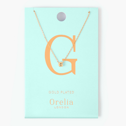 Gold Plated Initial Necklace - G