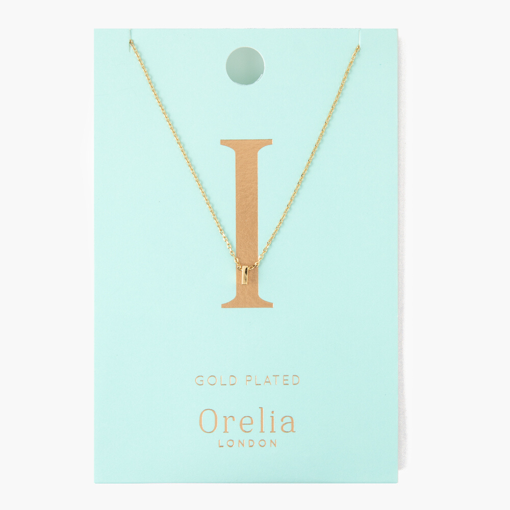 Gold Plated Initial Necklace - I