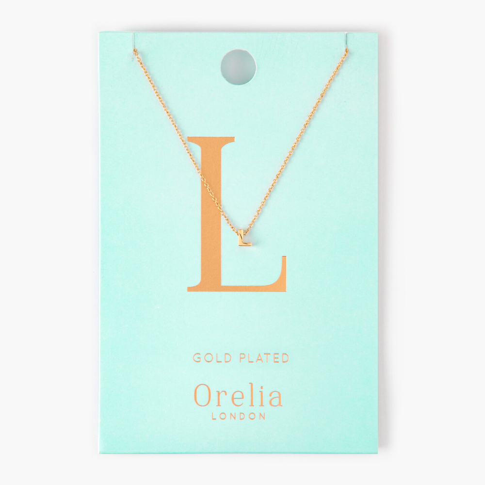 Gold Plated Initial Necklace - L
