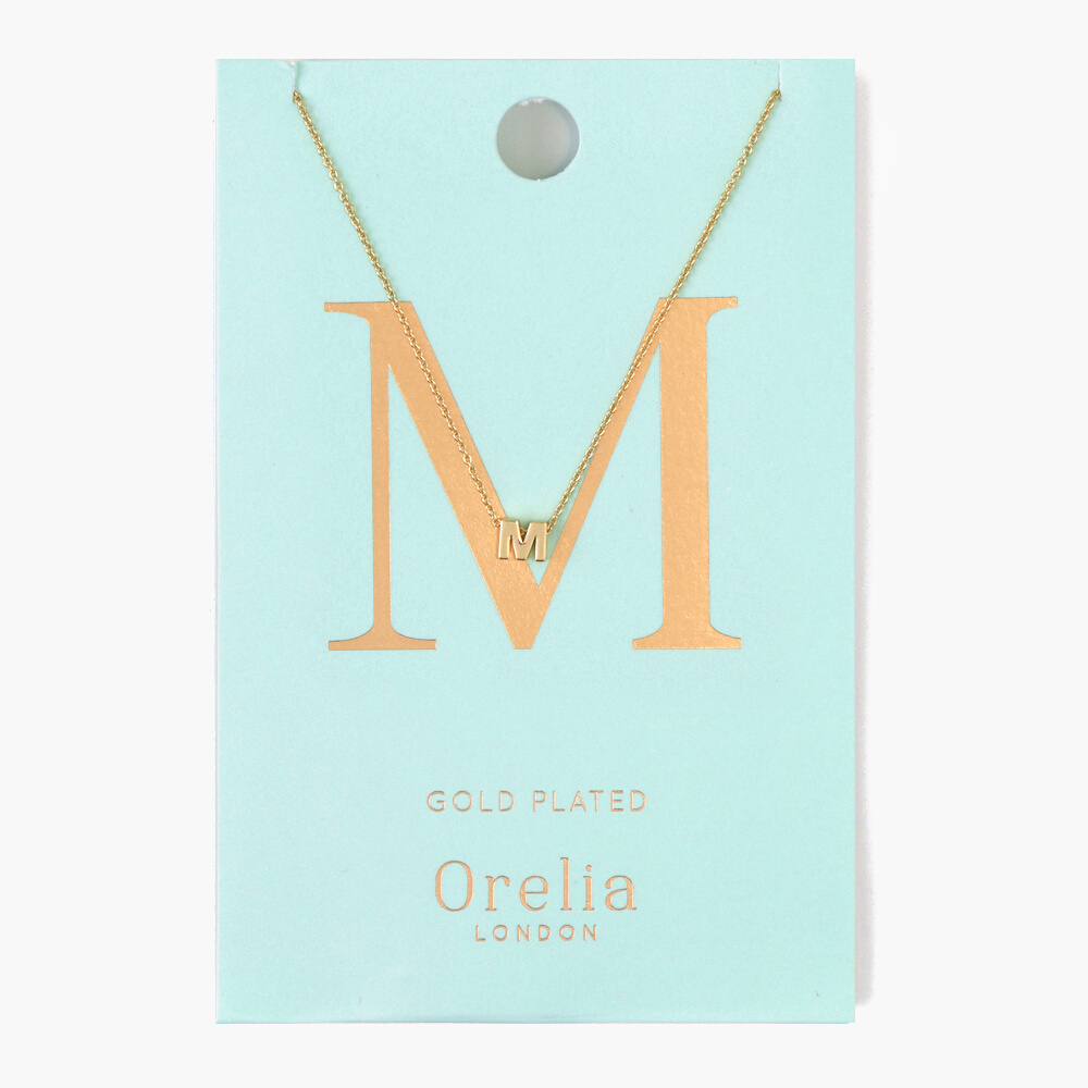 Gold Plated Initial Necklace - M