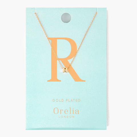 Gold Plated Initial Necklace - R