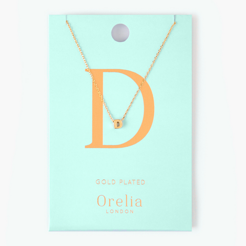 Gold Plated Initial Necklace - D