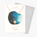 Capricorn Constellation Star Sign Disc Necklace