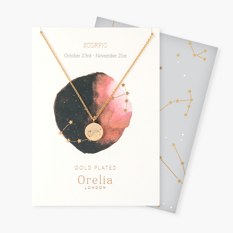Scorpio Constellation Star Sign Disc Necklace
