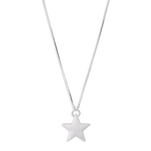 Ava Large Star Silver Plated Necklace