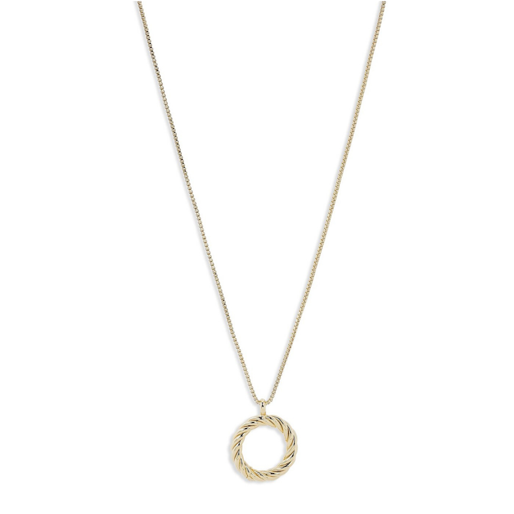 Cece Twisted Circle Gold Plated Necklace