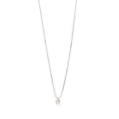 Lucia Silver Plated Crystal Necklace