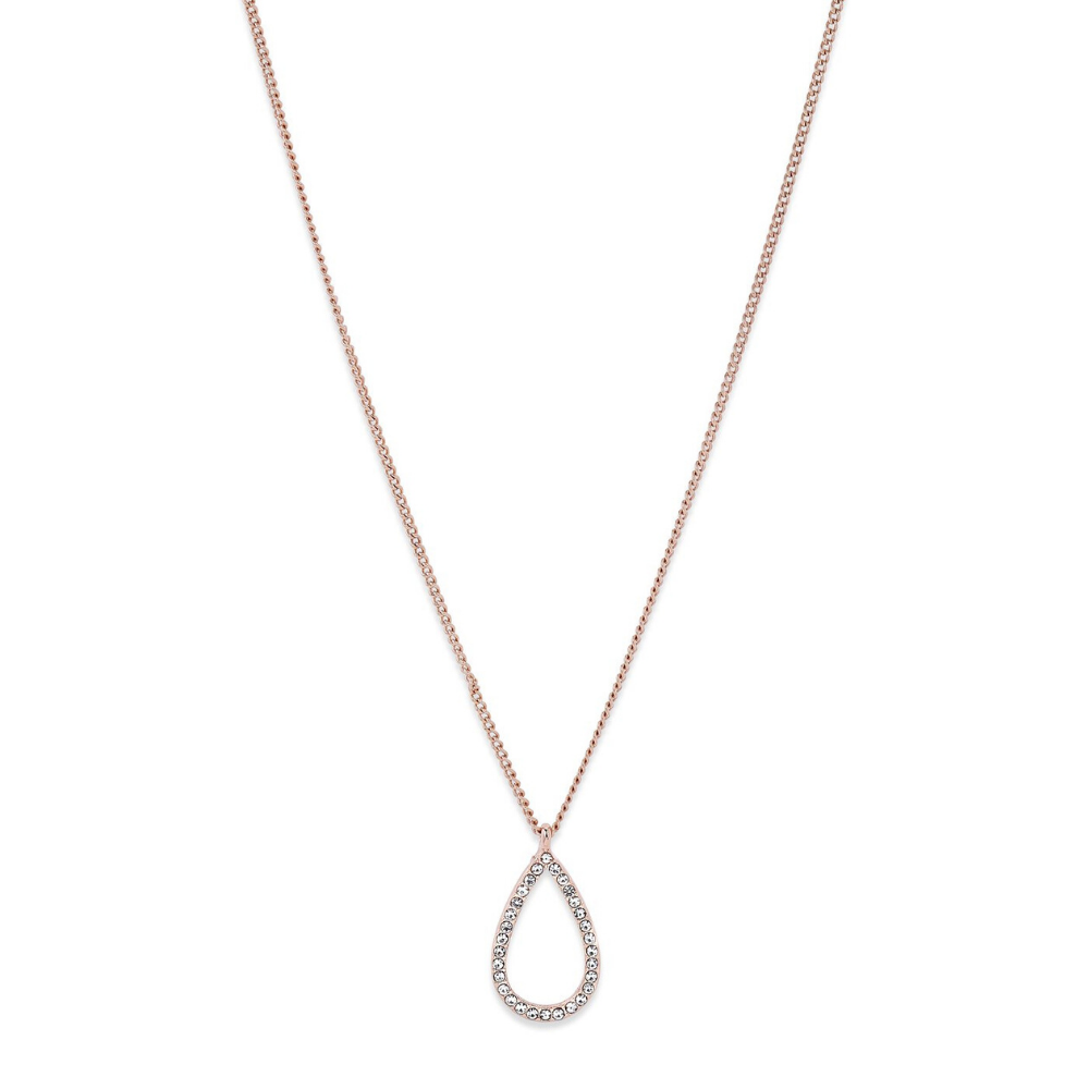 Delia Teardrop Rose Gold Plated Necklace
