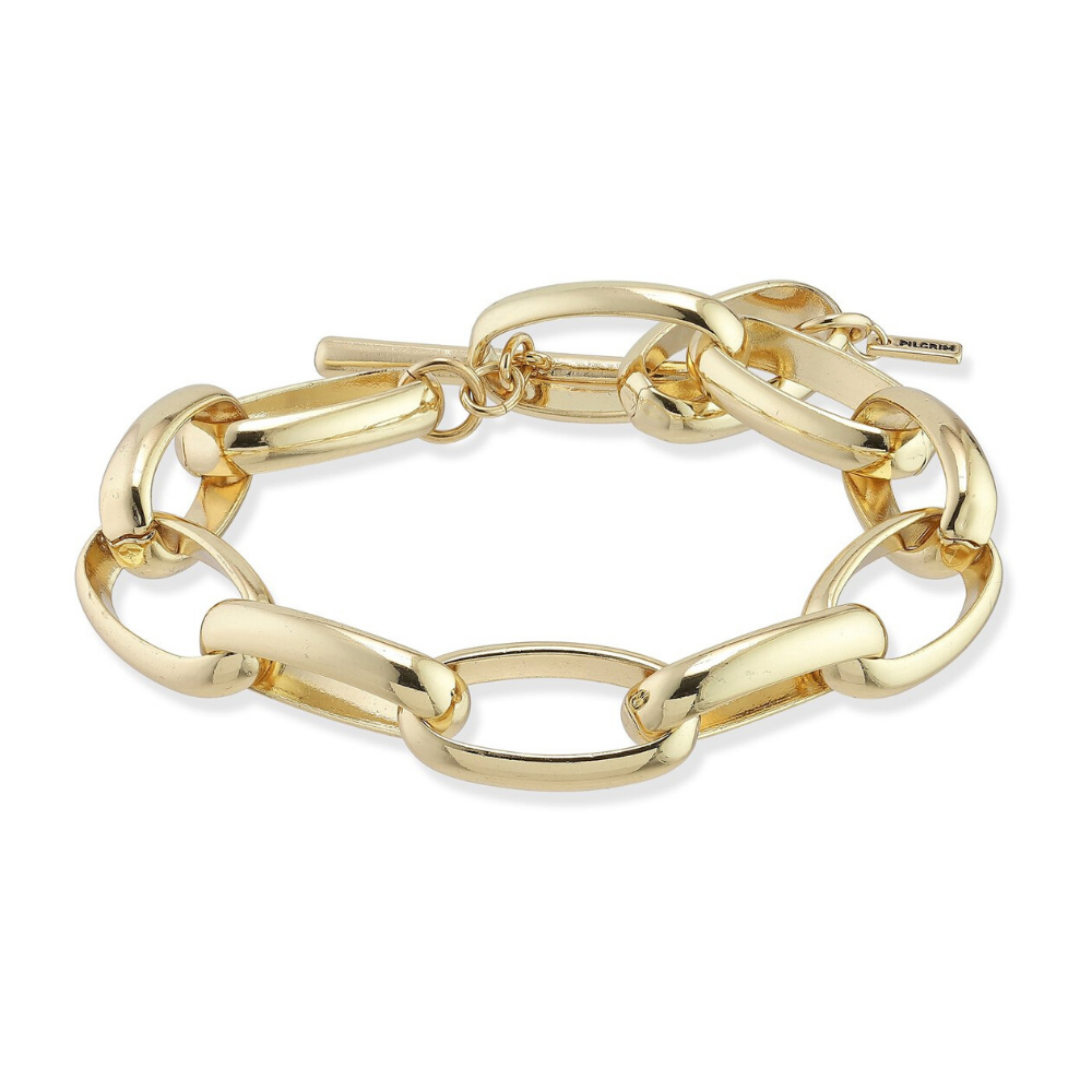 Ran Chain Link Gold Plated Bracelet