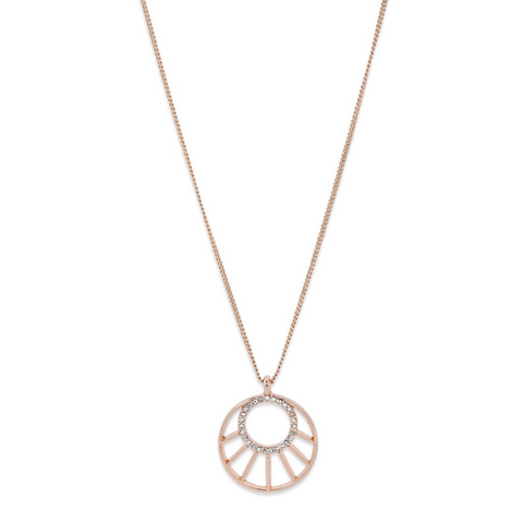 Cassie Art Deco Rose Gold Plated Necklace