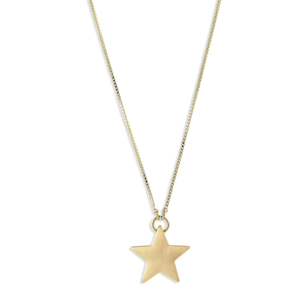 Ava Large Star Gold Plated Necklace