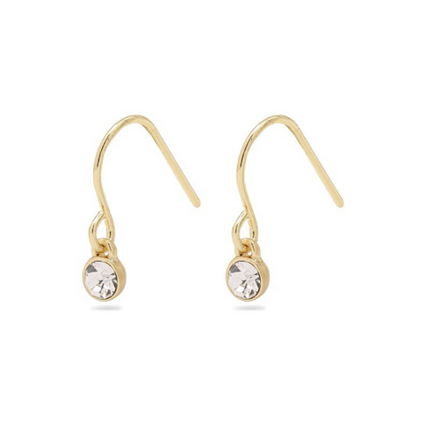 Lucia Gold Plated Crystal Earrings