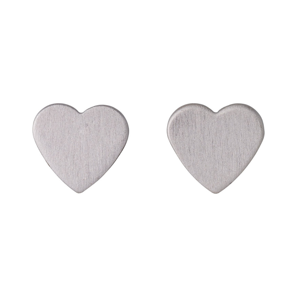 Vivi Heart Silver Plated Stud Earrings