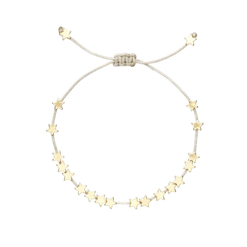 Estella Bartlett Stars Gold Plated and Grey Bracelet
