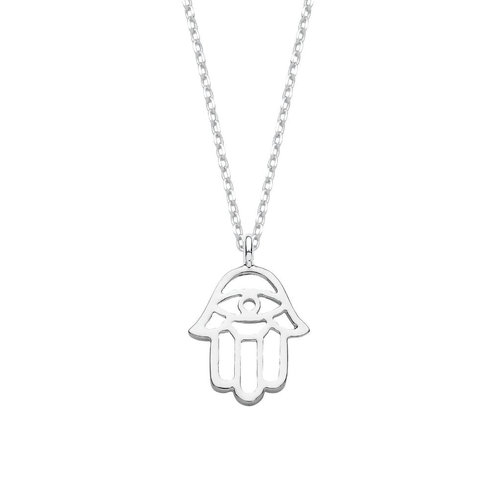 Estella Bartlett Hamsa Hand Silver Plated Necklace