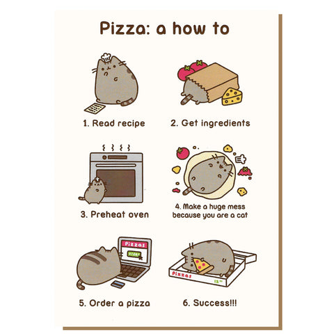 Pizza: A How To Pusheen