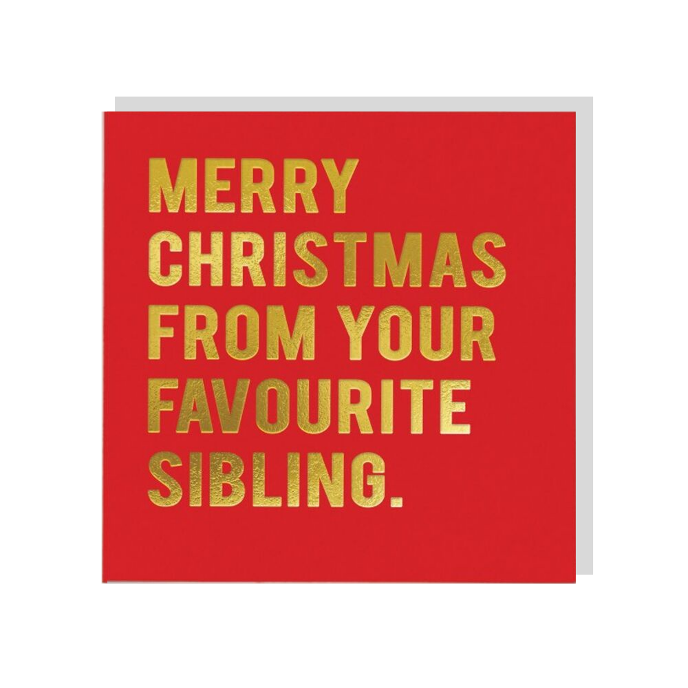 Merry Christmas From Your Favourite Sibling