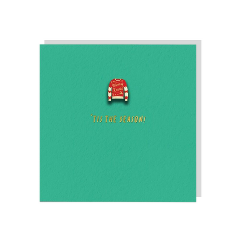 Christmas Jumper (Card With Enamel Pin)