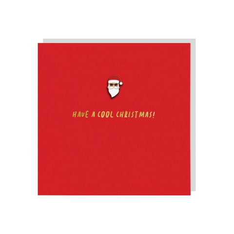 Cool Santa (Card With Enamel Pin)