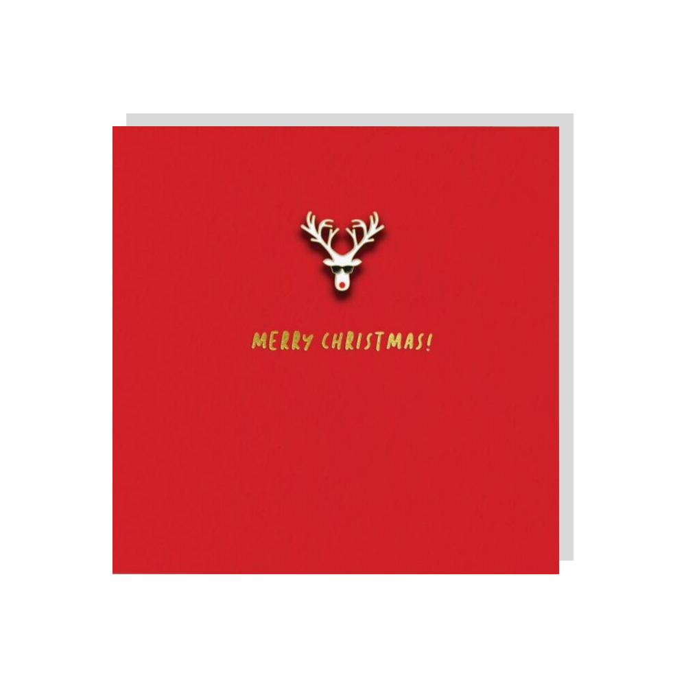 Cool Reindeer (Card With Enamel Pin)