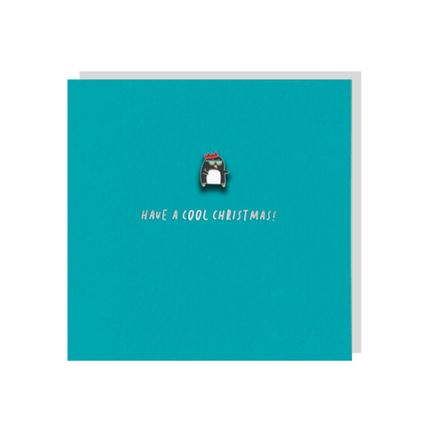 Cool Penguin (Card With Enamel Pin)