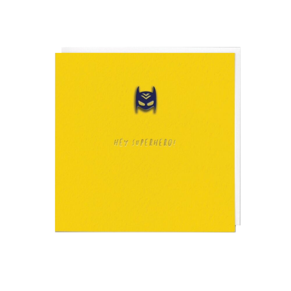 Hey Superhero! (Card With Enamel Pin)