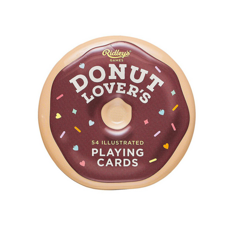 Donut Lover's Illustrated Playing Cards and Tin