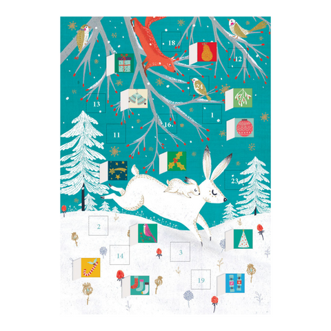 Frosty Forest Advent Calendar Card