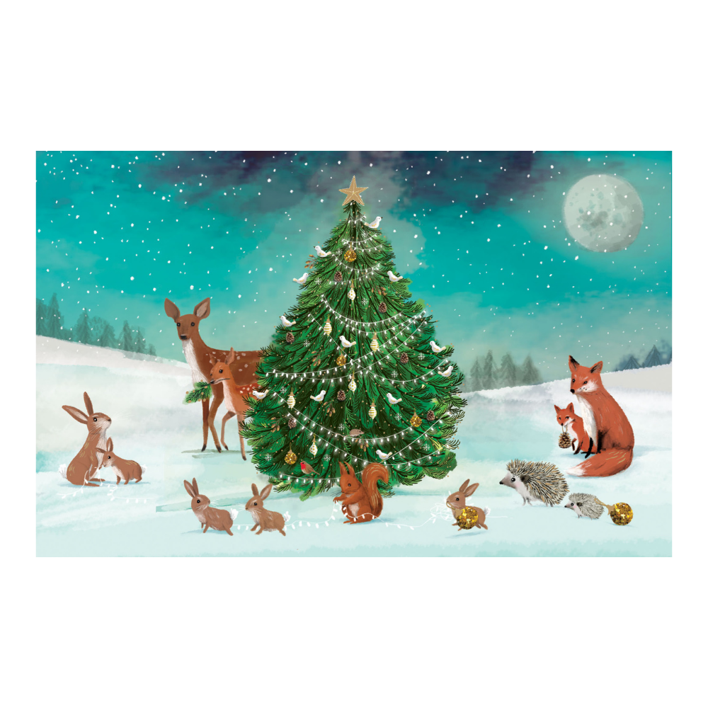 Woodland Christmas Tree Christmas Card 8 Pack